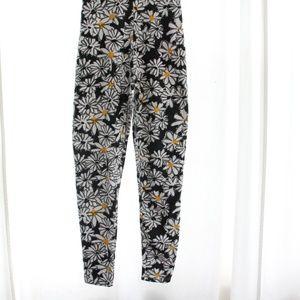 Vintage Pants - 90s Vtg Daisy Bodysuit Jumpsuit Onesie Floral SM